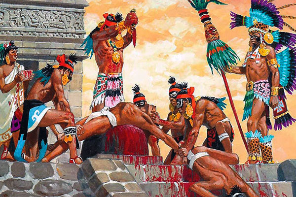 aztecs perform human sacrifices to appease the gods There are a few neo-primitivist groups that purport to rekindle the flame of aztec culture, but adequately recycled for the times, the feeling and the public of the 21st century, which precludes killing people to appease the gods.