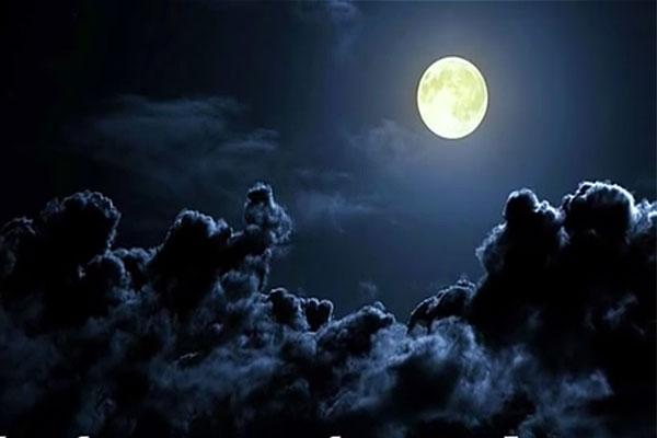зловещая луна, ночное небо
