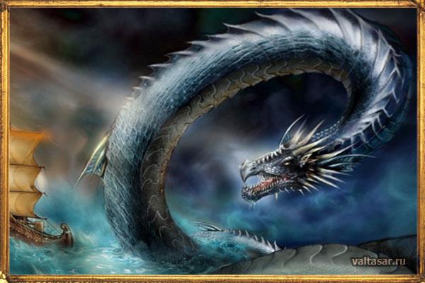 Морской змей - таинственное чудовище из темных глубин